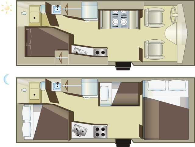 C Medium Rv 22ft Motorhome 5 Berth Fraserway Vehicle